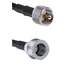 UHF Male on LMR100 to QN Male Cable Assembly