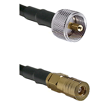 UHF Male on LMR100 to SSMB Female Cable Assembly