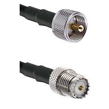 UHF Male on LMR-195-UF UltraFlex to Mini-UHF Female Cable Assembly