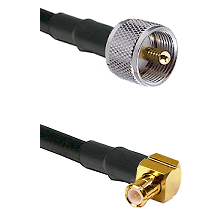 UHF Male on LMR-195-UF UltraFlex to MCX Right Angle Male Cable Assembly