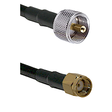 UHF Male on LMR-195-UF UltraFlex to SMA Reverse Polarity Male Cable Assembly