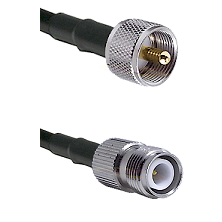 UHF Male on LMR-195-UF UltraFlex to TNC Reverse Polarity Female Cable Assembly