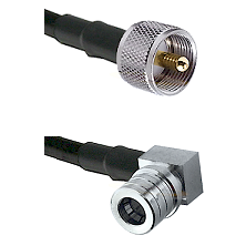 UHF Male on LMR-195-UF UltraFlex to QMA Right Angle Male Cable Assembly