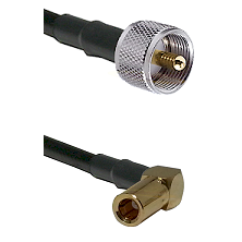 UHF Male on LMR-195-UF UltraFlex to SLB Right Angle Female Cable Assembly