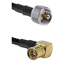 UHF Male on LMR-195-UF UltraFlex to SMB Right Angle Female Cable Assembly