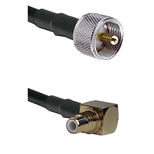 UHF Male on LMR-195-UF UltraFlex to SMC Right Angle Male Cable Assembly