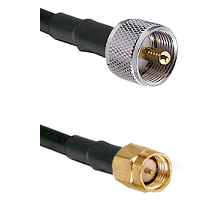 UHF Male on LMR-195-UF UltraFlex to SMA Reverse Thread Male Cable Assembly