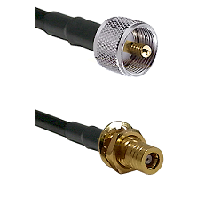 UHF Male on LMR-195-UF UltraFlex to SLB Female Bulkhead Cable Assembly