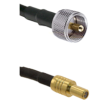 UHF Male on LMR-195-UF UltraFlex to SLB Male Cable Assembly