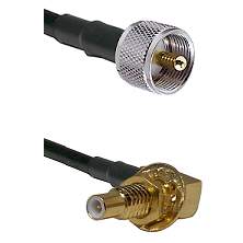 UHF Male on LMR-195-UF UltraFlex to SLB Male Bulkhead Cable Assembly