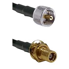 UHF Male on LMR-195-UF UltraFlex to SMB Female Bulkhead Cable Assembly