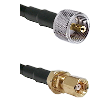 UHF Male on LMR-195-UF UltraFlex to SMC Female Bulkhead Cable Assembly