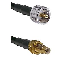 UHF Male on LMR-195-UF UltraFlex to SMC Male Bulkhead Cable Assembly