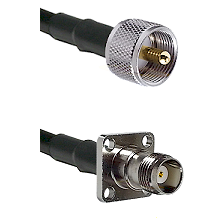UHF Male on LMR-195-UF UltraFlex to TNC 4 Hole Female Cable Assembly