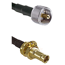 UHF Male on LMR200 UltraFlex to 10/23 Female Bulkhead Cable Assembly