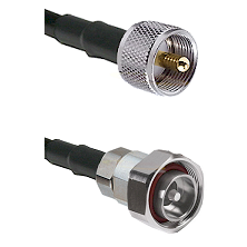 UHF Male on LMR200 UltraFlex to 7/16 Din Male Cable Assembly