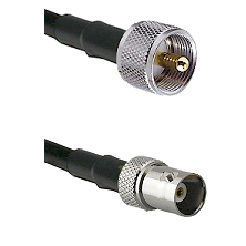 UHF Male on LMR200 UltraFlex to BNC Female Cable Assembly