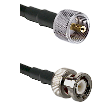 UHF Male on LMR200 UltraFlex to BNC Male Cable Assembly