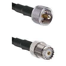 UHF Male on LMR200 UltraFlex to Mini-UHF Female Cable Assembly