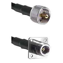UHF Male on LMR200 UltraFlex to N 4 Hole Female Cable Assembly
