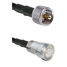 UHF Male Connector On LMR-240UF UltraFlex To 7/16 Din Female Connector Cable Assembly