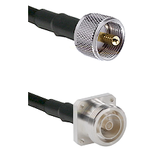 UHF Male Connector On LMR-240UF UltraFlex To 7/16 4 Hole Female Connector Cable Assembly