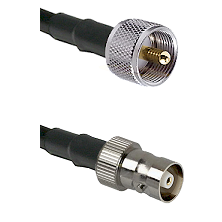UHF Male Connector On LMR-240UF UltraFlex To C Female Connector Cable Assembly