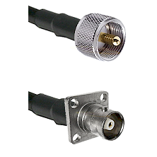 UHF Male Connector On LMR-240UF UltraFlex To C 4 Hole Female Connector Cable Assembly