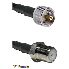 UHF Male Connector On LMR-240UF UltraFlex To F Female Connector Cable Assembly