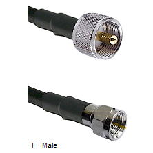 UHF Male Connector On LMR-240UF UltraFlex To F Male Connector Cable Assembly
