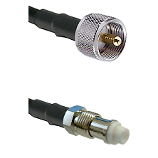 UHF Male on LMR240 Ultra Flex to FME Female Cable Assembly