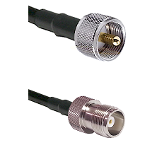 UHF Male Connector On LMR-240UF UltraFlex To HN Female Connector Cable Assembly
