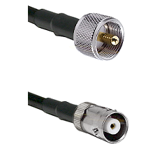 UHF Male Connector On LMR-240UF UltraFlex To MHV Female Connector Cable Assembly