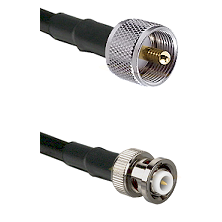 UHF Male Connector On LMR-240UF UltraFlex To MHV Male Connector Cable Assembly