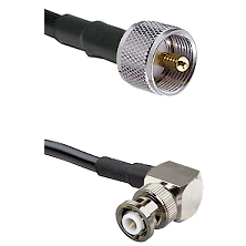 UHF Male Connector On LMR-240UF UltraFlex To MHV Right Angle Male Connector Cable Assembly