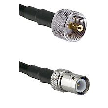 UHF Male on LMR240 Ultra Flex to BNC Reverse Polarity Female Cable Assembly