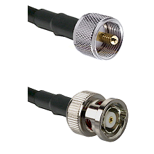 UHF Male on LMR240 Ultra Flex to BNC Reverse Polarity Male Cable Assembly