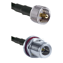 UHF Male on LMR240 Ultra Flex to N Reverse Polarity Female Bulkhead Cable Assembly