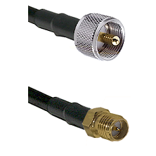 UHF Male on LMR240 Ultra Flex to SMA Reverse Polarity Female Cable Assembly