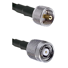 UHF Male on LMR240 Ultra Flex to TNC Reverse Polarity Male Cable Assembly