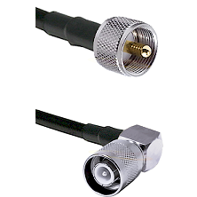 UHF Male Connector On LMR-240UF UltraFlex To SC Right Angle Male Connector Cable Assembly
