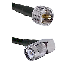 UHF Male on LMR240 Ultra Flex to TNC Right Angle Male Cable Assembly