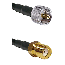 UHF Male Connector On LMR-240UF UltraFlex To SMA Reverse Thread Female Connector Coaxial Cable Assem