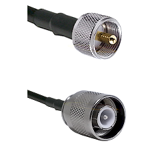 UHF Male Connector On LMR-240UF UltraFlex To SC Male Connector Cable Assembly