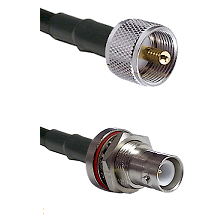 UHF Male Connector On LMR-240UF UltraFlex To SHV Bulkhead Jack Connector Cable Assembly