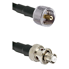 UHF Male Connector On LMR-240UF UltraFlex To SHV Plug Connector Cable Assembly
