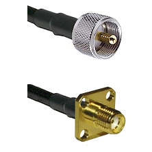 UHF Male Connector On LMR-240UF UltraFlex To SMA 4 Hole Female Connector Cable Assembly