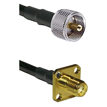 UHF Male on LMR240 Ultra Flex to SMA 4 Hole Female Cable Assembly