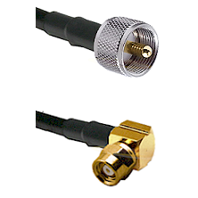 UHF Male on RG142 to SMC Right Angle Female Cable Assembly