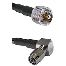 UHF Male on RG188 to SSMA Right Angle Male Cable Assembly